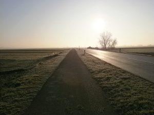 Die Aussicht von Pama Richtung Dt. Jahrndorf.