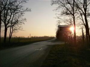 Sonnenuntergang beim Kleylehof.