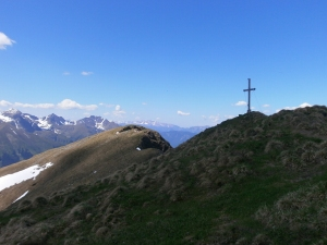 Gipfel des Hinteren Geierkogels.