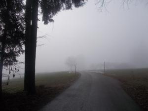 Wieder im Nebel nach Oberharmansedt.