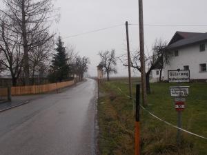 Es geht raus aus St. Marienkirchen.