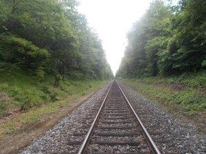 Bahnwandern auf den letzten Metern.