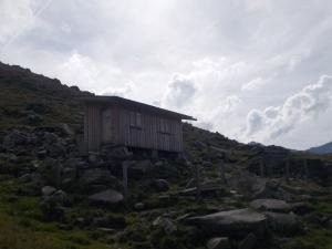 Die Notunterkunft am Aschaffenburger Höhenweg.