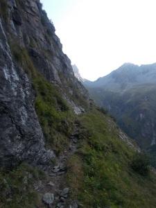 In den ersten Metern des Aufstiegs zur Mörchnerscharte.