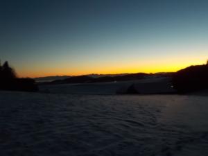 Von der Raphaelshöhe in Richtung Sonnenuntergang.