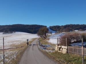 Am Stadtausgang von Freistadt. In Richtung des Schilifts.