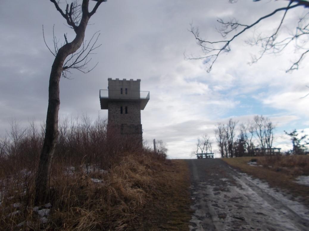Am Geschriebenstein-Gipfel.