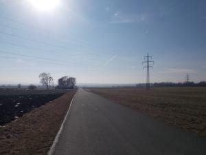 4 km geradeaus.